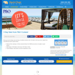 P&O Cruises 4 Nights for $249pp, 7 Nights for $399pp and Other Deals. 3 Day Sale