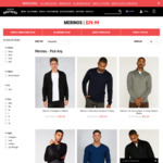 All (60%) Merino $29.99 + Free DHL Delivery over $50 @ Hallensteins