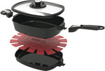 Weber Q Ware Casserole/Frying Pan Pack SMALL $3.90 (Was $169), Weber Q/Family Q Patio Cart Full Cover $22.48 @ The Good Guys