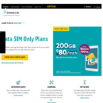 Optus Data Sim. $80 / 100GB + 100GB Bonus Data. Either 12 Month or Month to Month*