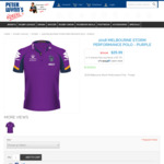 NRL Melbourne Storm Performance Polo 2018 (Purple) $29.99 (Was $79.99) + Delivery @ Peter Wynn's Store