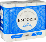 Emporia 3 Ply Toilet Tissue 24 Pack $7, Emporia 3 Ply Toilet Tissue 48 Pack $15 @ Big W