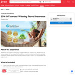 20% off Award-Winning Travel Insurance at World2Cover