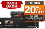 Samsung 970 EVO M.2 NVMe 250GB $88 + Delivery (Free with eBay Plus) @ Shopping Express eBay (+ $10 Cashback via Redemption)