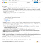 10% off Sitewide via eBay App (Min Spend $120, Max Discount $300) @ eBay