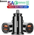 Baseus 30W USB Type C PD3.0 QC4.0 VOOC Dual Car Charger US $5.49 (~AU $7.87) Delivered @ AliExpress