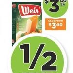 ½ Price Weis Ice-Cream Bar Varieties 4pk $3.40 @ FoodWorks