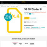 Optus $40 SIM Starter Kit for $15 (Limited to 1 Per Customer) @ Optus