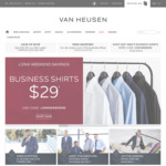 Suit (Jacket and Pants), Shirt and Tie $284 @ Van Heusen Outlet Store