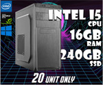 Intel i5 7400 | 16GB RAM | 240GB SSD PC Desktop Computer $499 @ FTC Computers