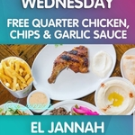 [NSW] Free Quarter Chicken, Chips & Garlic Sauce for The First 100 People @ El Jannah (Granville)