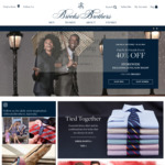 40% off Sitewide (Ex Suits = 30% off) at Brooks Brothers (Online)