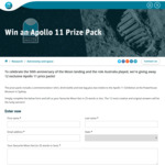 Win 1 of 12 Apollo 11 Prize Packs Worth $100 from CSIRO