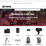 10% off Camera & Lenses and 20% off Accessories @ George's Cameras