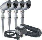 HPM 12V Mini Garden Spotlight Kit - 4 Pack - Satin Silver - $40 (normally $109) @ Bunnings [in-store only]