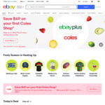 10% off Eligible Items ($50 Min Spend, $500 Max Discount) @ eBay