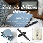 Win a Happiness Journal, Lamy Fountain Pen & Jo Malone Candle from Pen and Paper Revolution