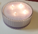Large 4 Wick Crystal Candle $20 (Was $25) + Shipping / Pickup @ villafenice