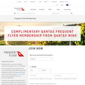 Qantas Frequent Flyer Membership Free via Qantas Wine (Normally $99.50)