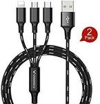 2 Pack 3 in 1 USB Charging Cable for Type C/Lightning/Micro $12.59 (10% off) + Post ($0 with Prime/ $39 Spend) @ LUOKE Amazon AU