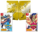 [Pre Order, Switch] Pokémon Sword & Pokémon Shield Dual Pack (with Steelcase) $134.10 + $3.90 Delivery @ BIG W