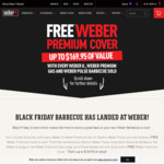 Free Weber Premium Cover with Purchase of BBQ @ Weber Online and Participating Stores