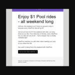 [WA] $1 UberPool Rides All Weekend 23/11 and 24/11