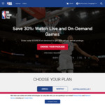 NBA Annual League Pass 2019-2020 Season $29.99 USD (~$46.27 AUD) @ NBA.com (VPN Req.)
