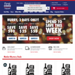 First Choice Liquor Spend $99 Save $10, $199 Save $25, $399 Save $55 + Delivery under $150 Spend