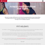 FFit Holidays - Fitness First Initiative for Teens (Free Holiday Program)