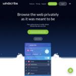 Free - 20GB Usage Per Month (1 Year) @ Windscribe VPN