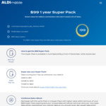 ALDI Mobile 1 Year Super Pack $99 (Unlimited Calls and SMS + 15GB Data)