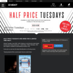 Half Price Adult Tickets Every Tuesday @ Event Cinemas (N/A TAS)