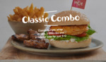 Classic Burger, Wrap or Pita, 3x BBQ Ribs & Regular Side $12 @ Nando's