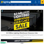 [QLD] Lighting Warehouse Clearance Event - up to 90% off eg, LED Downlights from $1 @ JD Lighting