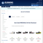 40% off Storewide (Excl Electronics/Giftcards) E.g. Hoka One One Speedgoat 4, $161.97 (Was $269.95) @ Running Warehouse