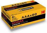 Kodak XTRALIFE AAA 60 Pack Alkaline Batteries $18.48 + Delivery ($0 with Prime/ $39 Spend) @ Amazon AU