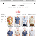 Men's Cotton Short Sleeve Shirt Fr$19 (RRP$99.99-$129.99) @ Sportscraft (C&C/Spend $50 Shipped) & The Iconic (Spend $50 Shipped)