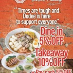 [VIC] 5% off Dine-in, 10% off Takeaway (+5% off Cash Payment) @ DoDee Paidang, Melbourne