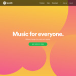 Spotify Premium Duo - 1 Month Free with Upgrade (New Users Only)