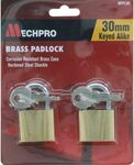 Mechpro Padlock Set - Brass 30mm (2 Piece) - MPPL302 - $0.80 + Delivery or C&C @ Repco