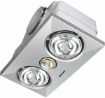 Heller 2 x 275W Silver Ducted Heater and Exhaust Fan $38.90 Bunnings