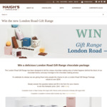 Win 1 of 3 London Road Gift Range Chocolate Packs Worth $202 from Haigh's