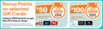 1000 Points on $50 RedBalloon, Kayo, Hotys GC | 2000 Points on $100 Ultimate Him, Good Food, Luxury Escapes GC @ Woolworths