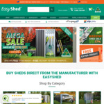 Free Extra Height Upgrade at Standard Shed Price + Free Delivery to 170 Depots @ Easyshed