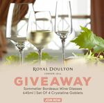 Win a Royal Doulton Sommelier Bordeaux Wine Glasses 645ml | Set of 4 Crystaline Goblets from Mega Boutique