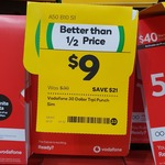 $30 Vodafone Pre-Paid SIM Starter $9 (Save $21) @ Woolworths