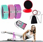 3pc Fabric Resistance Bands Set & Core Gliders & Jump Rope $23.97 + Delivery ($0 with Prime/ $39 Spend) @ POWER2YOU Amazon AU