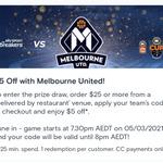 2x $5 off Vouchers (Min Spend $25) Restaurant Delivery Only @ Menulog App