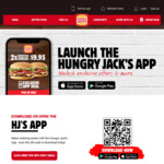 2 Big Jack Burgers for $9 @ Hungry Jack's (App Required)